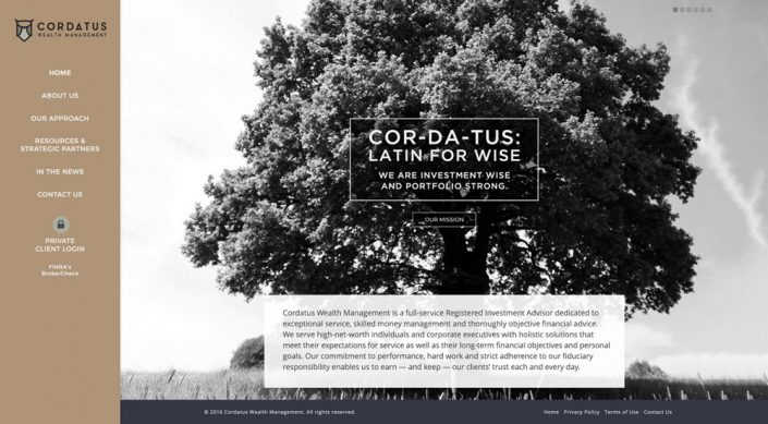 Cordatus Wealth homepage