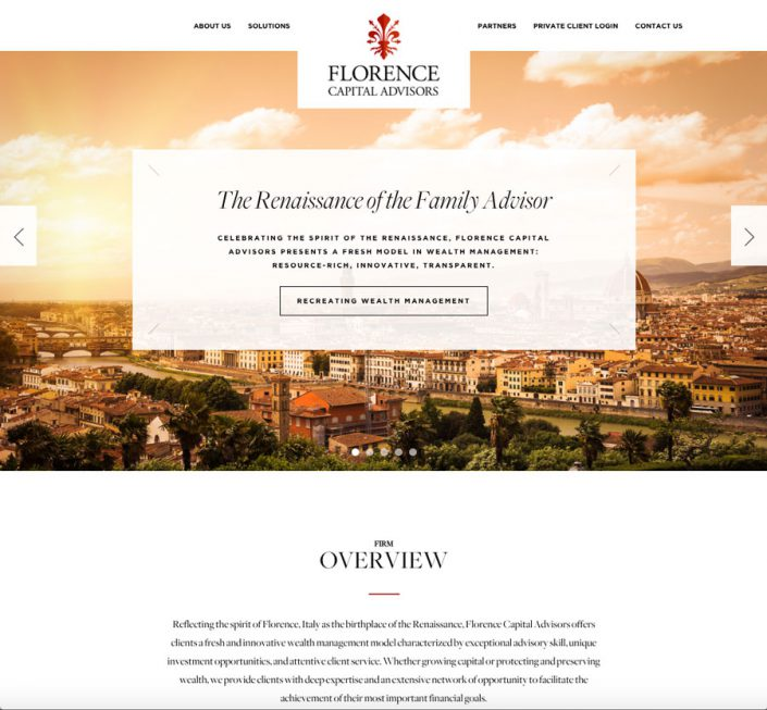 Florence Capital Advisory homepage