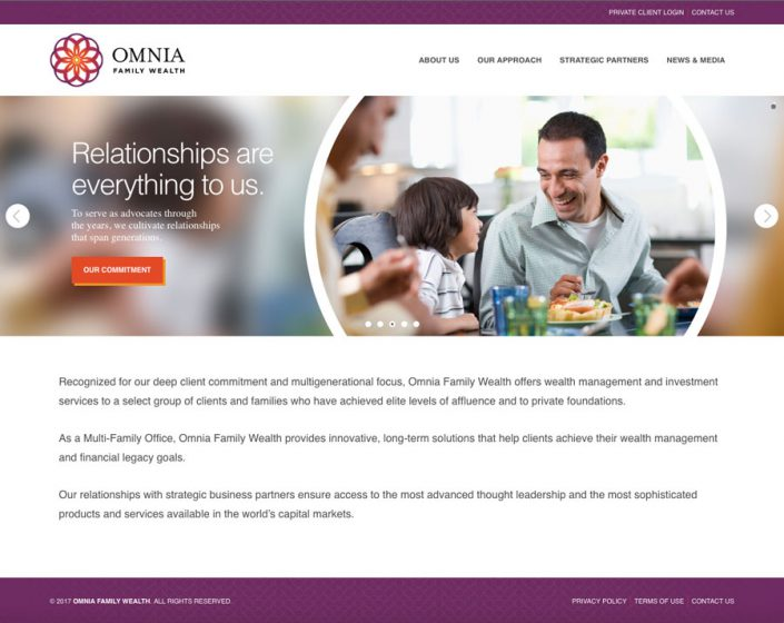 Omnia Family Wealth homepage